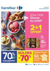 Promos et remises Carrefour SENS - Rte de Maillot : Vive l'été - Glaces au soleil