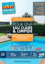 Prospectus Cash Piscines : Pour une eau claire & limpide