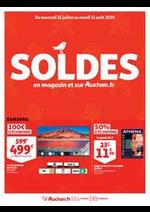 Promos et remises  : SOLDES : en magasin et sur Auchan.fr