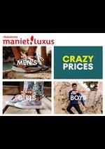 Prospectus Maniet ! Luxus : Maniet Crazy Prices