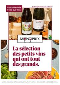 Prospectus Monoprix ANGERS : La sélection des petits vins qui ont tout des grands.