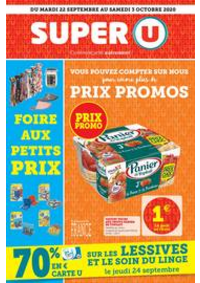 Prospectus Super U PARIS - R. PAUL BERT : Catalogue Super U
