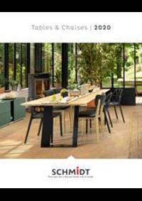 Prospectus Cuisines Schmidt SAINT-DOULCHARD : Les tables et chaises 2020