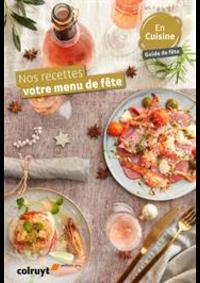 Prospectus Colruyt ALSEMBERG : Nos recettes votre menu de fête