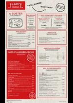 Prospectus Flam's : Notre carte