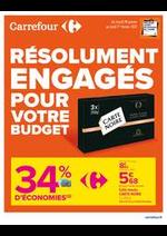 Prospectus Carrefour : RESOLUMENT ENGAGES POUR VOTRE BUDGET
