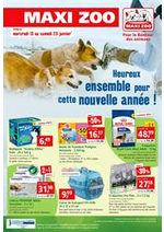 Prospectus maxi zoo : Pour le bonheur des animaux