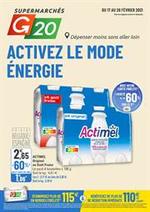 Prospectus G20 : Activez le mode énergie