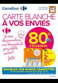 Promos et remises Carrefour Market COLOMBES : CARTE BLANCHE A VOS ENVIES