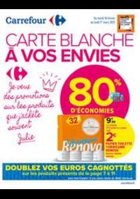 Promos et remises Carrefour Market Paris Saint Ouen : CARTE BLANCHE A VOS ENVIES