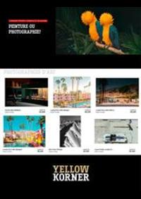 Prospectus Yellowkorner Paris Le Marais  : Peinture ou Photographie ?