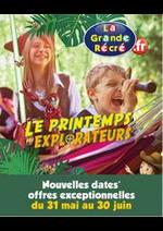 Prospectus La grande Récré : Le printemps des explorateurs