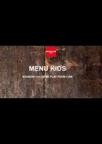 Prospectus Buffalo PONTARLIER : Menu Kids