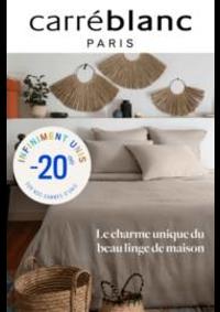 Prospectus Carré blanc Paris THONON LES BAINS : Carré Blanc - Le charme du linge de maison!