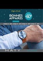 Prospectus Maty : BONNES AFFAIRES HOMME