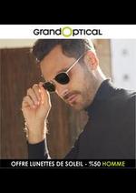 Prospectus Grand Optical : OFFRE LUNETTES DE SOLEIL - %50 HOMME