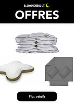 Prospectus La Compagnie du lit : Offres La compagnie du lit