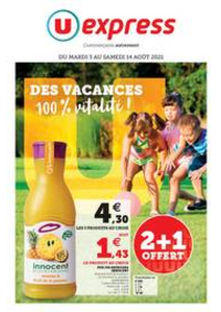 Prospectus U Express Paris 14 - Rue de la tombe Issoire : LES VACANCES, ÇA A DU BON !