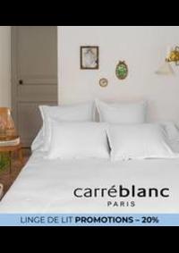 Prospectus Carré blanc Paris BOURGES : LINGE DE LIT PROMOTIONS – 20%