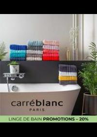 Prospectus Carré blanc Paris ST CLOUD : LINGE DE BAIN PROMOTIONS – 20%