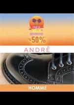 Prospectus André : Coup de soleil -50% HOMME