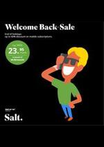 Prospectus Salt : Welcome Back Sale