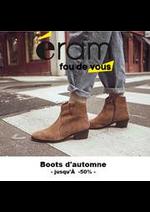 Prospectus Eram : Boots d'Automne l Jusqu'à -50%